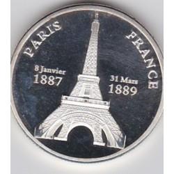 Paris - Tour Eiffel (version argentée)