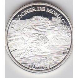 Monaco - Le rocher (version argentée)