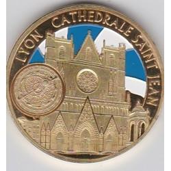 Lyon - Cathédrale St Jean/ Blason - diamètre 34 mm