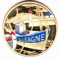 Port breton / Blason - diamètre 34mm