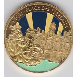Lyon - Place des terreaux/ Blason - diamètre 34 mm