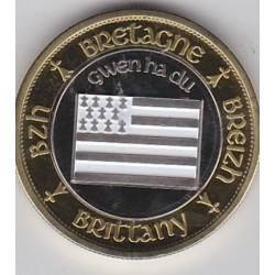 Le drapeau breton (Gxen ha du)