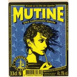 Etiquette de bière - Mutine - Bière traditionnelle blanche - 33cl