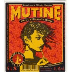 Etiquette de bière - Mutine - Bière traditionnelle blonde - 5L