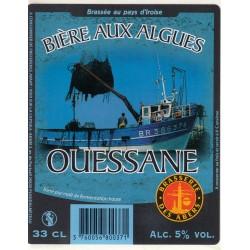 Etiquette de bière - Ouessane - Bière aux algues - 2L