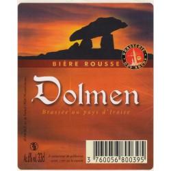 Etiquette de bière - Dolmen - Bière rousse - 33cl