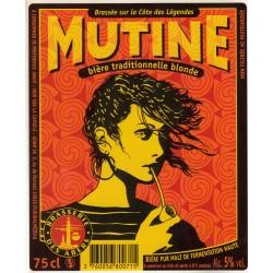 Etiquette de bière - Mutine - Bière traditionnelle blonde - 25cl