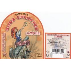 Etiquette de bière - Bière des sans culottes - l'ambrée