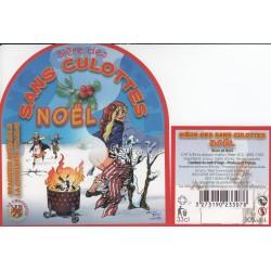 Etiquette de bière - Bière des sans culottes - Noel