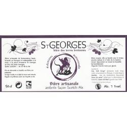 Etiquette de bière - St-Georges - ambrée - 50cl
