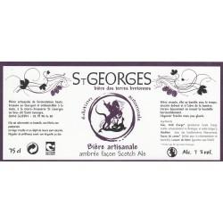 Etiquette de bière - St-Georges - ambrée - 75cl