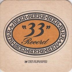 Sous bock de bière - 33 Record