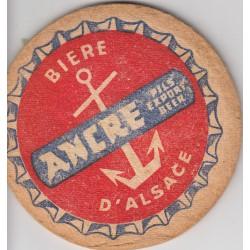 Sous bock de bière - Ancre - Biere d'Alsace (très épais)