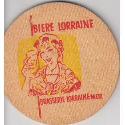 Sous bock de bière - Biere Lorraine (très épais)