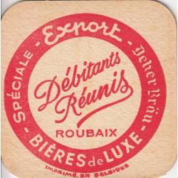 Sous bock de bière - Deher Bräu - Débitants réunis - Roubaix