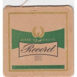 Sous bock de bière - Grutli - vert