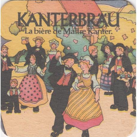 Sous bock de bière - Kanterbrau - Gold, bière spéciale - 7.5 X 7.5 cm