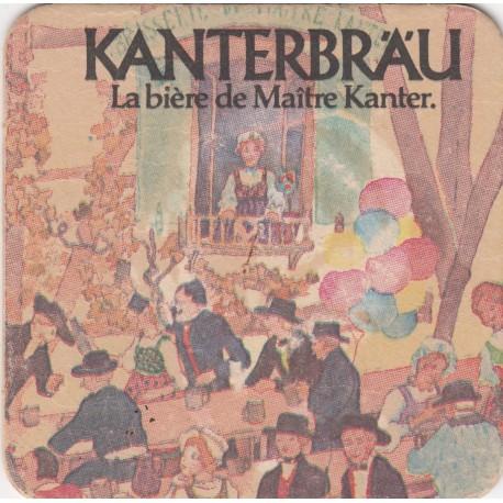 Sous bock de bière - Kanterbrau - Gold, bière spéciale - 9.5 X 9.5 cm