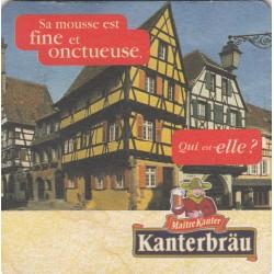 Sous bock de bière - Kanterbrau - Sa mousse est tellement fine...