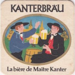 Sous bock de bière - Kanterbrau - La bière de Maître Kanter