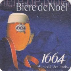 Sous bock de bière - Kronenbourg - Bière de Noël- 1664 - au delà des mots