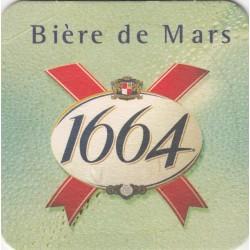 Sous bock de bière - Kronenbourg - 1664 - Bière de Mars