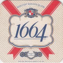 Sous bock de bière - 1664 - seize cent soixante quatre