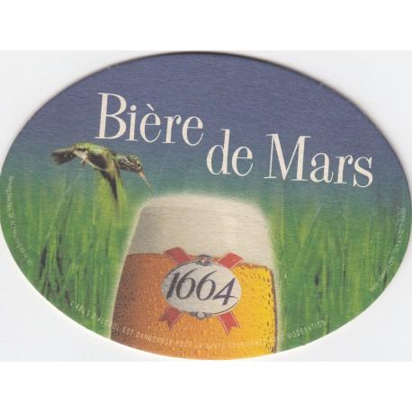 Sous bock de bière - Kronenbourg - Bière de mars 1664