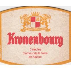 Sous bock de bière - Kronenbourg - 3 siècles d'amour de la bière en Alsace