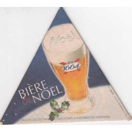 Sous bock de bière - Kronenbourg - Bière de Noël 1664