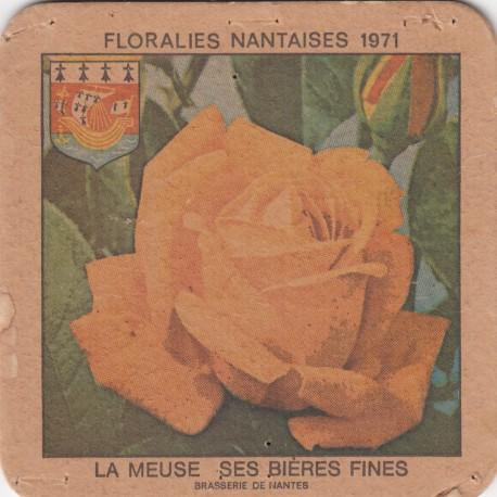 Sous bock de bière - La Meuse - Floralies nantaises 1971