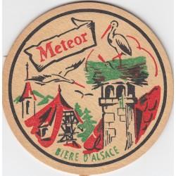 Sous bock de bière - Meteor - La bière d'Alsace