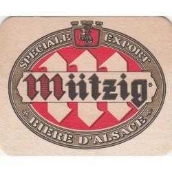 Sous bock de bière - Mützig - Spéciale export - Campanile - blanc