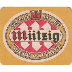 Sous bock de bière - Mützig - Spéciale export - jaune
