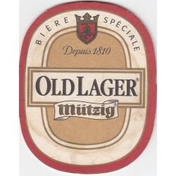 Sous bock de bière - Mützig - Old lager