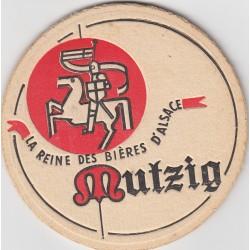 Sous bock de bière - Mützig - La reine des bières d'Alsace - ancien - épais