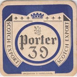 Sous bock de bière - Porter 39