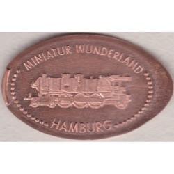 DE - Hambourg - Miniatur Wunderland - train vapeur - cuivre