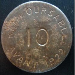 Monnaie de nécessité - 10 Centimes - CHAMBRE DE COMMERCE DE BAYONNE - 1917
