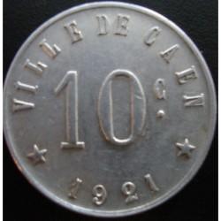 Monnaie de nécessité - 10 c - Union commerciale et industrielle de Caen - 1921