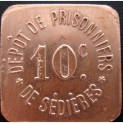 Monnaie de nécessité - 10 c - Dépot de prisonniers de Sédières (14/18)