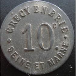 Monnaie de nécessité - 10 Centimes - Union Commerciale - Crecy en Brie