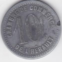 Monnaie de nécessité - 10 c - Chambre de Commerce de l'Hérault - SDate