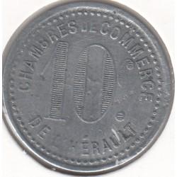 Monnaie de nécessité - 10 c - Chambres de Commerce de l'Hérault - SDate