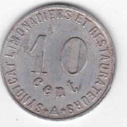 Monnaie de nécessité - 10 c - Syndicat limonadiers et restaurateurs - Narbonne - 1922