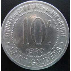 Monnaie de nécessité - 10 Centimes - Syndicat du Commerce et de l'Industrie - Saint Gaudens