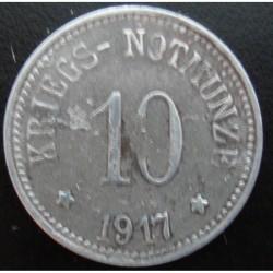 Monnaie de nécessité - 10 pfennig - Arzberg- 1917