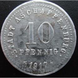 Monnaie de nécessité - 10 pfennig - Aschaffenburg - 1917