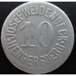 Monnaie de nécessité - 10 - Hengersberg - Josef Weidenbeck