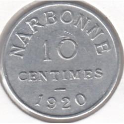 Monnaie de nécessité - 10 Centimes - Narbonne - 1920